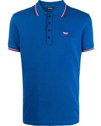 DIESEL Poloshirt Met Gestreept Detail - Blauw