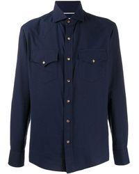 Brunello Cucinelli - Однотонная Рубашка С Длинными Рукавами - Lyst