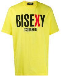 DSquared² グラフィック Tシャツ - イエロー