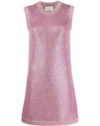 Gucci - Robe courte en maille à ornements - Lyst