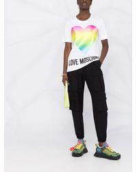 Love Moschino グラデーション Tシャツ - ホワイト