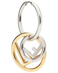 Fendi F Is Earring - Metallic