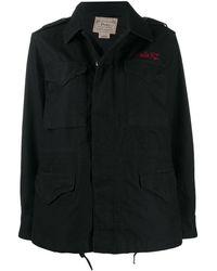 Polo Ralph Lauren Твиловая Куртка С Вышивкой - Черный
