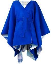 Emilio Pucci Blue Belted Waist Wool Coat