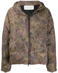 1017 ALYX 9SM Piumino In Techno Tessuto Camouflage Con Cappuccio - Multicolore