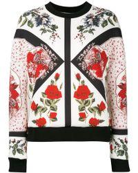 Alexander McQueen - Scuba Flower Print Jumper - Lyst