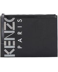 KENZO Bolso de mano con logo - Negro