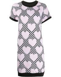 Love Moschino Heart Print T-shirt Dress - Pink