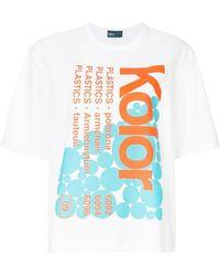 Kolor - Printed Oversized T-shirt - Lyst