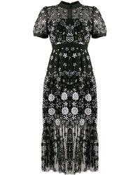 Self-Portrait スパンコール スパンコール ドレス - ブラック
