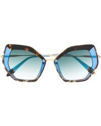 Spektre Oversized Tortoiseshell Sunglasses - Blue
