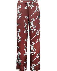 Asceno The London Leaf-print Pajama Bottoms - ブラウン