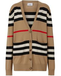 Burberry Striped Cardigan - Multicolour