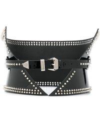 Philipp Plein Wide Studded Belt - Black