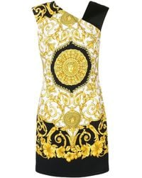 Versace Printed Crêpe Dress - Black