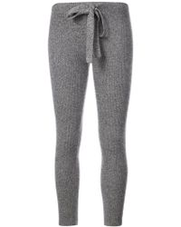 The Elder Statesman - Ribbed Knit Leggings - Lyst