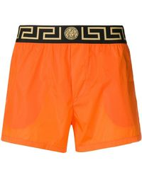 Versace - Greek Keys Swim Shorts - Lyst