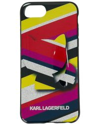 Karl Lagerfeld - Choupette Striped Phone Case - Lyst