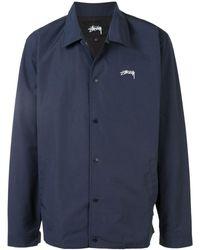 Stussy ロゴ ジャケット - ブルー