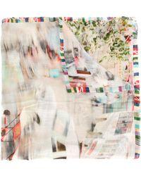 Faliero Sarti - Printed Distortion Scarf - Lyst