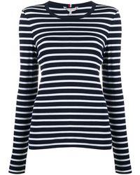 Tommy Hilfiger ストライプ Tシャツ - ブルー