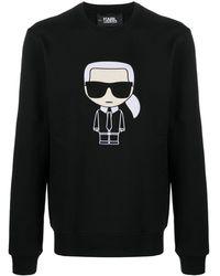 Karl Lagerfeld Karl Ikonik スウェットシャツ - ブラック