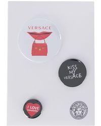 Versace Mixed Printed Logo Pins - Black