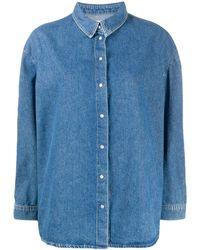 Ba&sh Ivona Denim Shirt - Blue