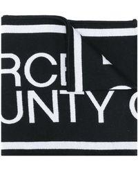 Marcelo Burlon Logo Scarf - Black