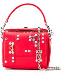 Alexander McQueen Studded Box Mini Bag - Red