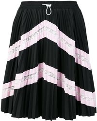 Valentino - Lace Panel Pleated Skirt - Lyst