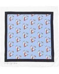 Macgraw - Swan Print Necktie - Lyst