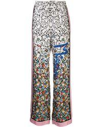 M Missoni Floral Print Track Pants - White