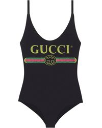 Gucci Sparkling Logo Swimsuit - Black