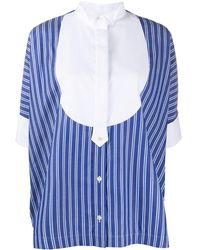 Sacai - ストライプ プリーツシャツ - Lyst