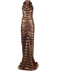 Rick Owens Lilies スパンコールパネル ドレス - ブラウン