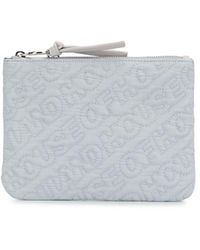 House of Holland Embroidered Logo Pouch - Gray