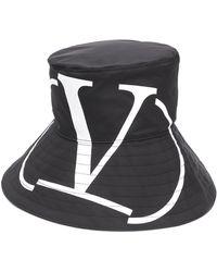 Valentino Vlogo Bucket Hat - Black