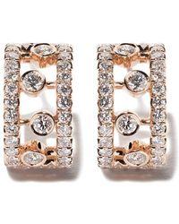 De Beers 18kt Rose Gold Dewdrop Diamond Earrings - Multicolor
