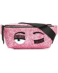Chiara Ferragni Flirting Glitter Belt Bag - Pink