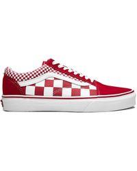 Vans Suede Old Skool Sneakers in Red/White (Red) for Men ...