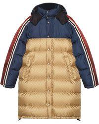 Gucci Padded Jacquard Print Jacket - Blue