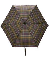 Barbour Tartan Handbag Umbrella - Green