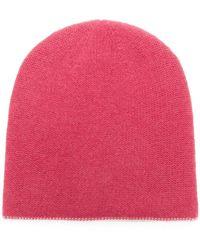 Warm-me - Contrast Stitch Trim Beanie - Lyst
