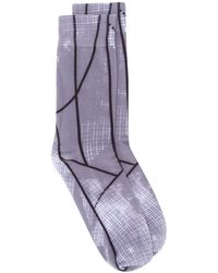 A_COLD_WALL* Shard Graphic Patterned Socks - Gray