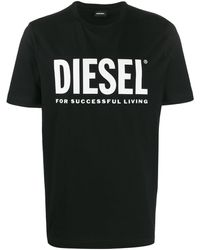 DIESEL Logo print T-shirt - Negro