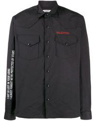 Valentino プリント シャツ - ブラック