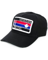 DSquared² Honkbalpet Met Patch - Zwart