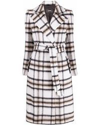 Mackage Sienna Check-pattern Trenchcoat - Grey
