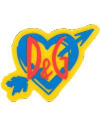 Dolce & Gabbana Нашивка Sorrento В Форме Сердца С Логотипом - Желтый